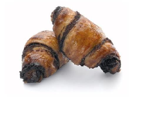 Rugelach - A traditional pasty rolled by hand and filled with rich chocolate, baked to perfection.