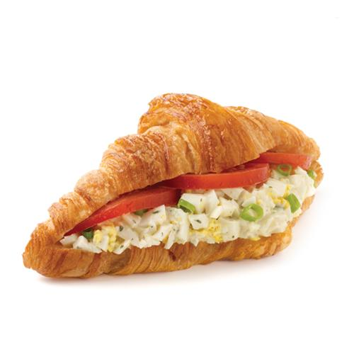 Egg Salad Croissant - Egg Salad, Scallions and Tomatoes inside a Butter Croissant.