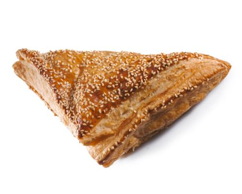 Bureka - Flaky bulgarian pastry filled with choice of potato, spinach or feta cheese and sprinkled with sesame seeds.