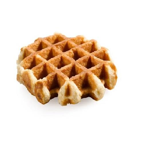 Belgian Waffle - Our belgian waffle is light and perfectly sweet. Take it to go or have it in the cafe, warmed with maple syrup and whip cream