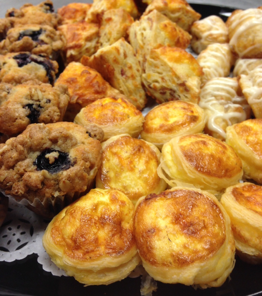 Fresh Baked Pastries for Catered Midtown NYC Breakfast