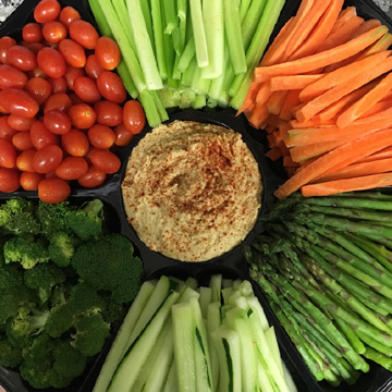 Healthy Hummus Platter From Our NYC Drop Off Catering Kitchen