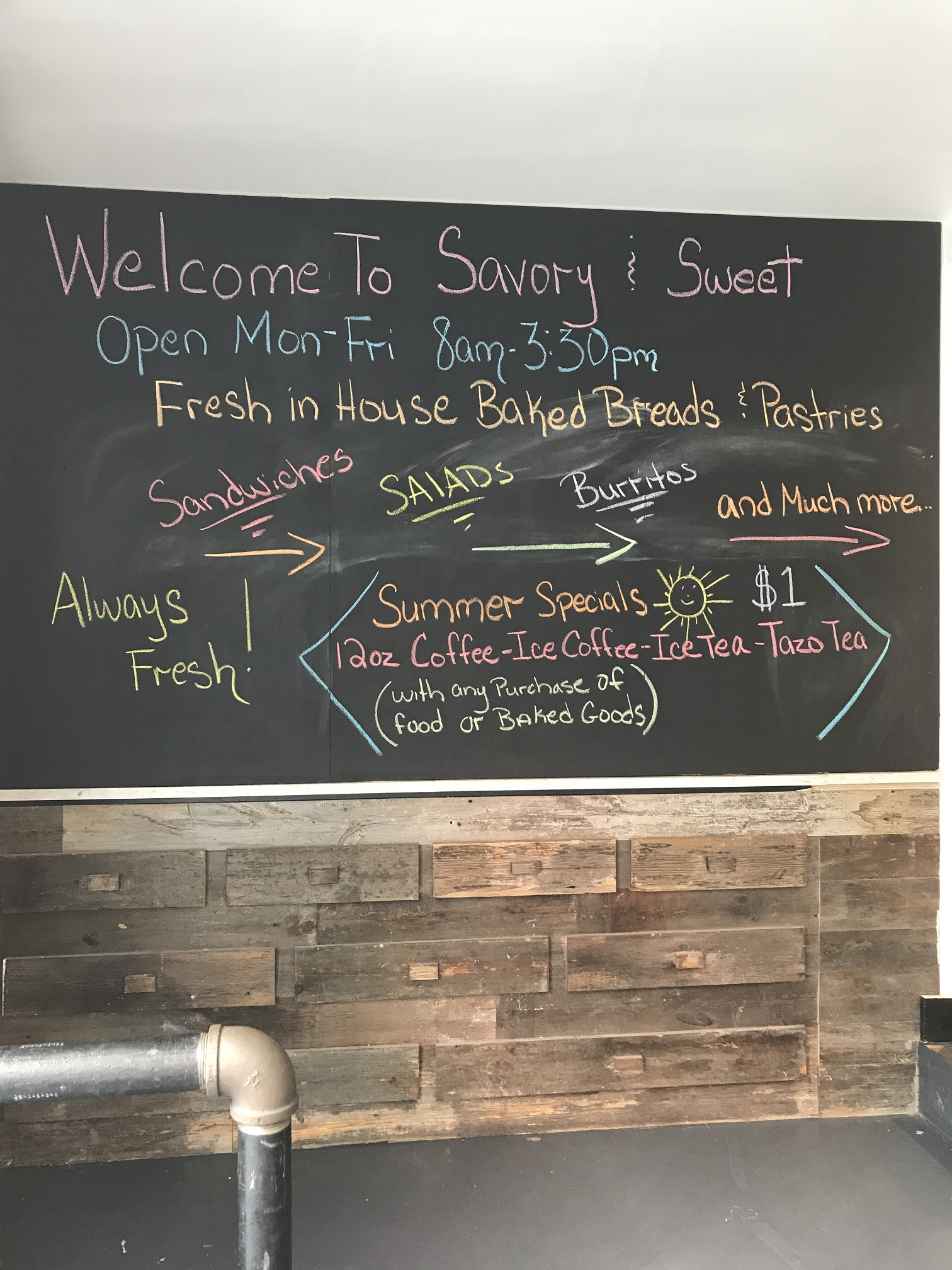 Savory & Sweet Café Daily Specials: Drop Off-Site Catering