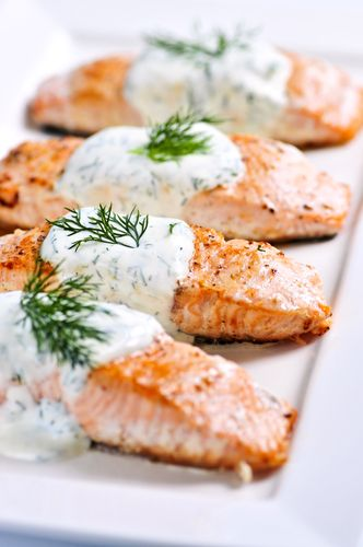 Grilled Salmon with Tzatziki Sauce: Upscale Dining for your Event!