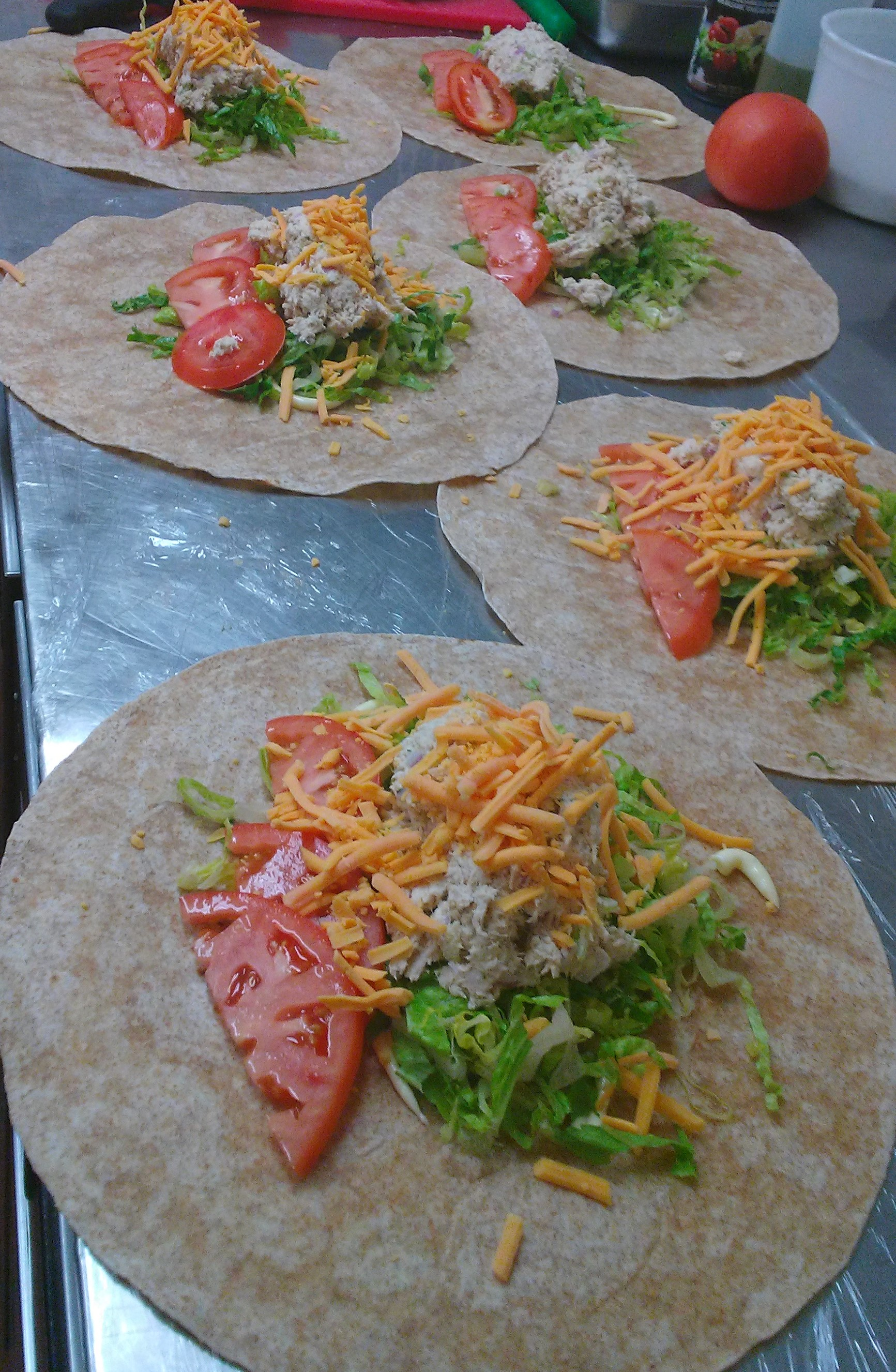 Tuna Salad Wraps for your NYC Midtown West Catered Lunch