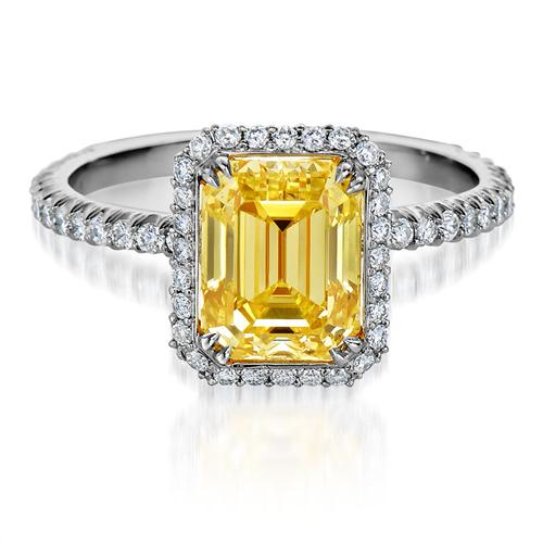 2.83 Carat Emerald Shaped DIAMOND ENGAGEMENT RING
